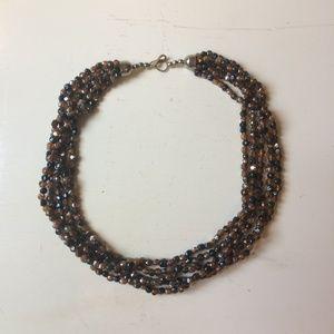 Jewelry - Beautiful Brown Beaded Multi Strand Necklace